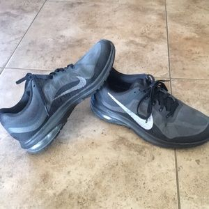 Black and gray Nike's